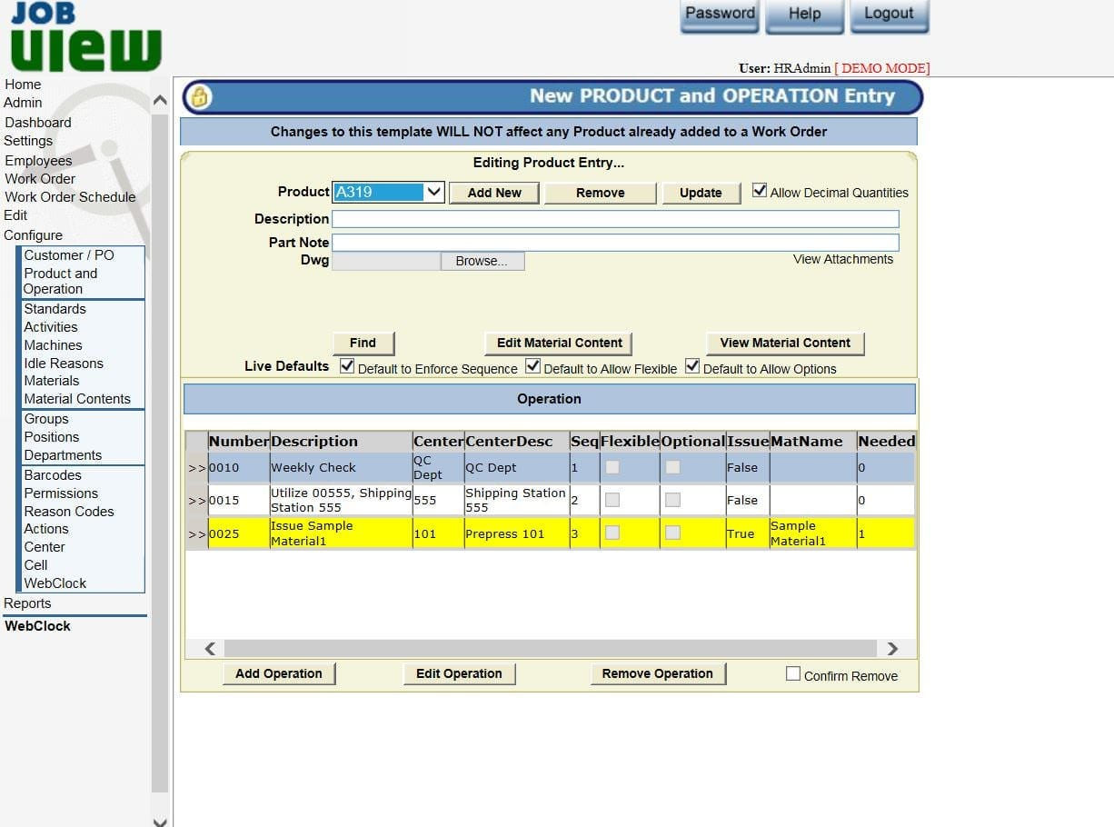 manufacturing job tracking software acumen data systems