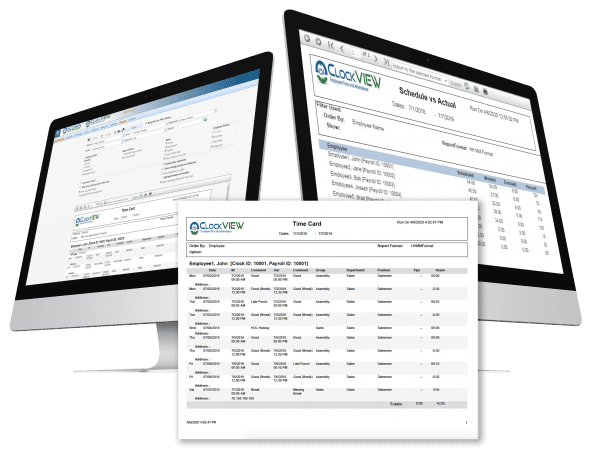 timekeeping report from time clock software